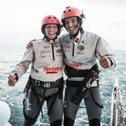 Rely on MOBOS: Anke and Francisco prior the start from the Azores