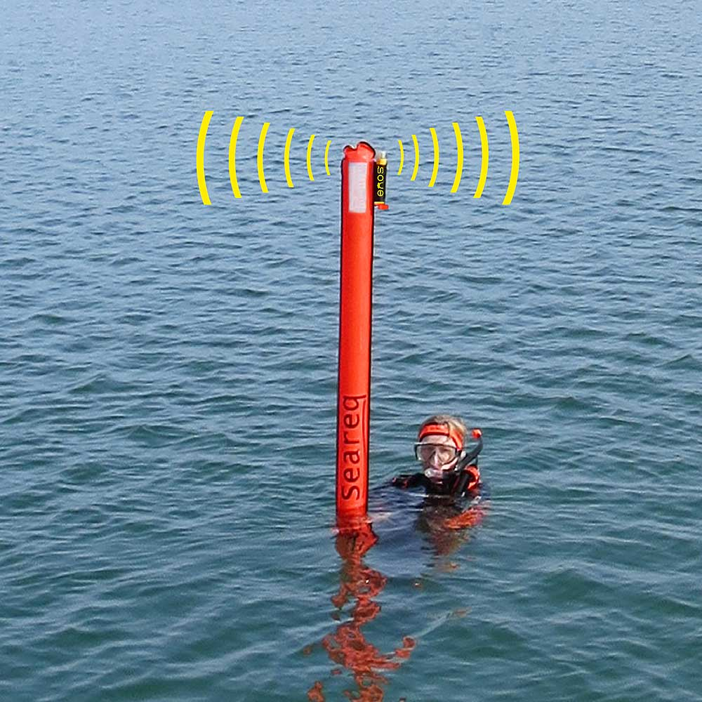 Seareq SMB SIBO.1 in application with transmitting ENOS-Beacon